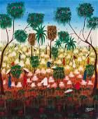 Pierre Henry (Haitian, 20th c.) Working the Fields