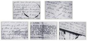 Rene Pena, Letters, 5 Photograph Series, Prints Mounted