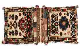 Pair of Antique West Persian Kurd Saddlebags