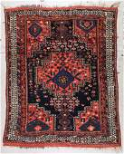 Antique Afshar Rug: 4'5'' x 5'5'' (135 x 165 cm)