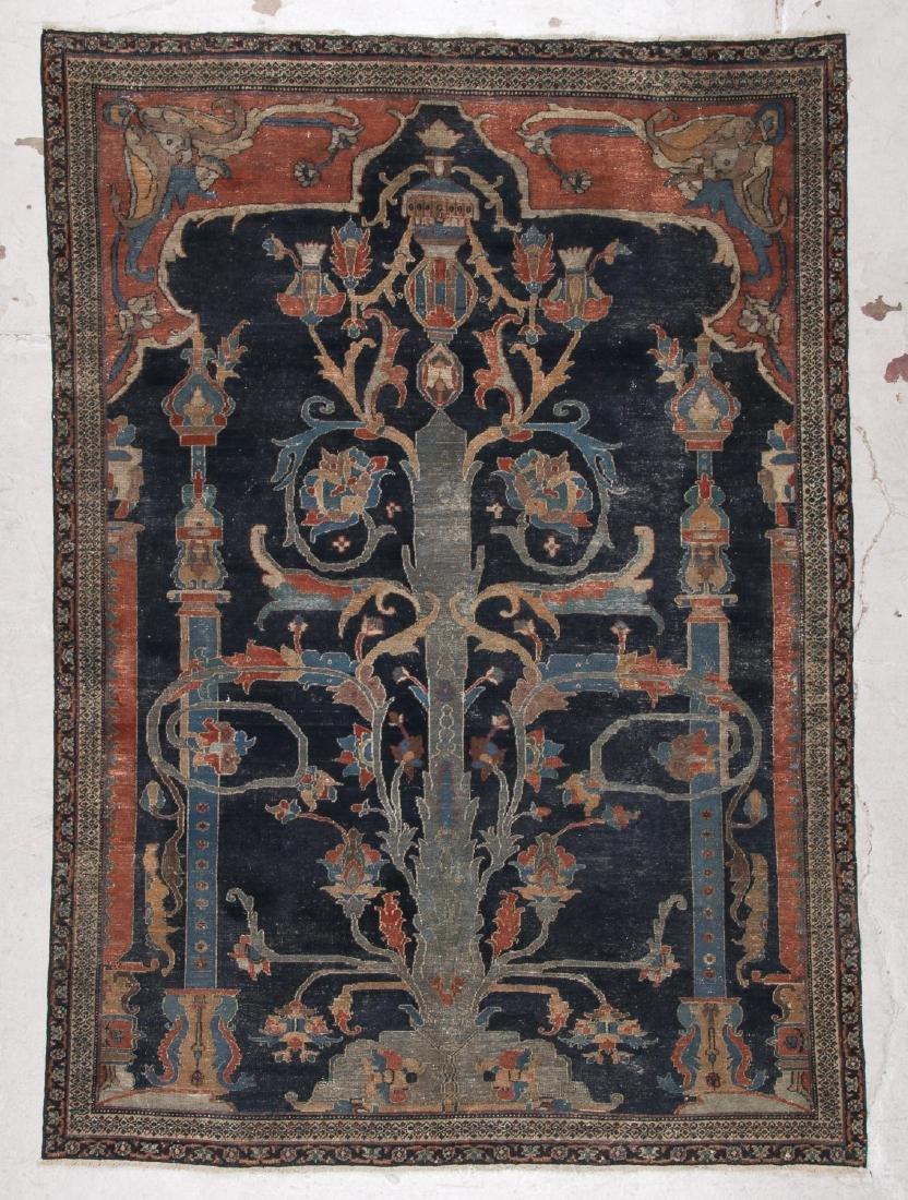 Antique Dorokhsh Prayer Rug: 5' x 7' (152 x 213 cm)