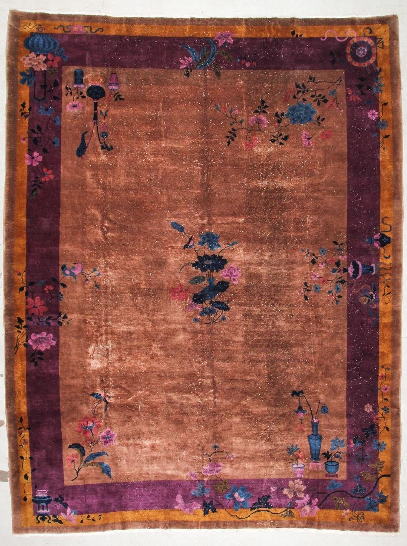Chinese Art Deco Rug: 9'10'' x 13'