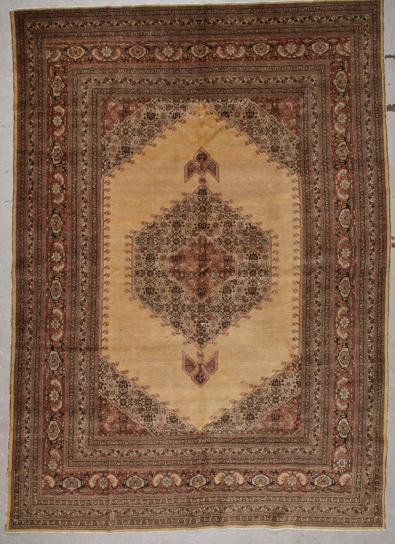 Antique Persian Tabriz Rug: 9'3'' x 12'10'' (282 x 391
