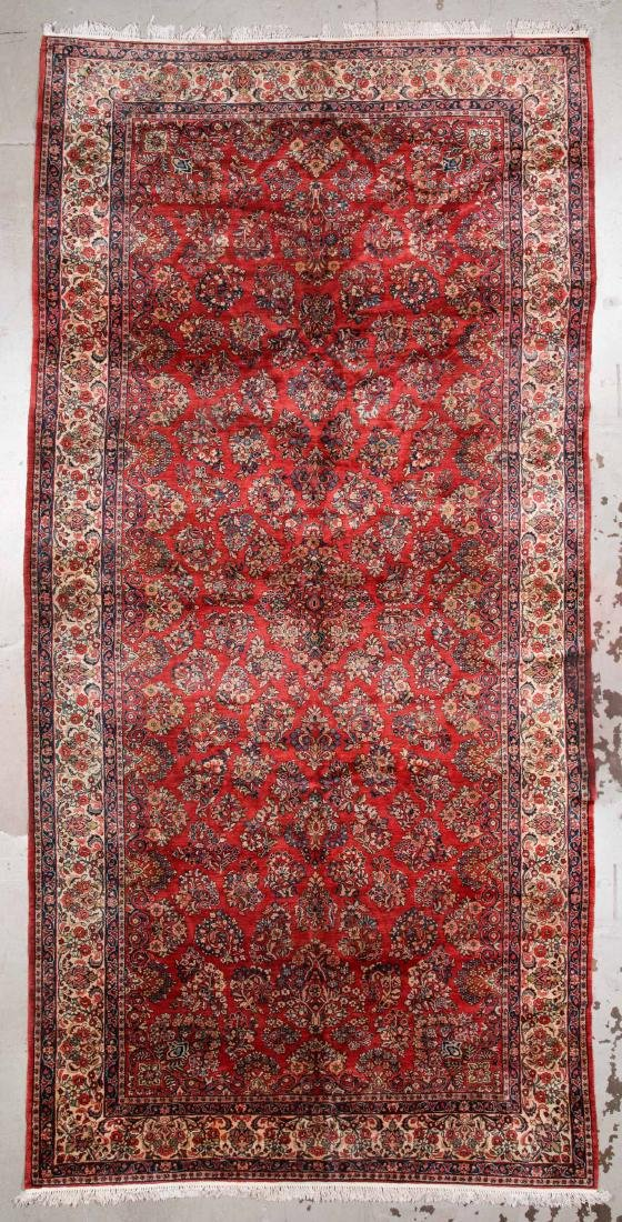 Persian Sarouk Rug: 8'9'' x 19'10''