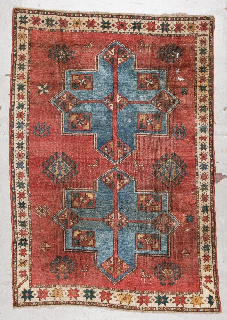 Antique Kazak Rug: 4'1'' x 6''' (124 x 183 cm)