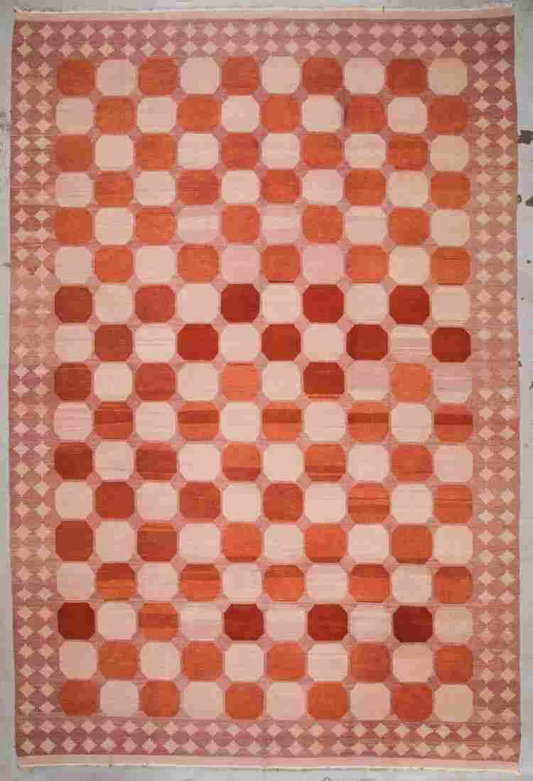 Modern Turkish Sumak Rug: 10'3'' x 15'5'' (312 x 470