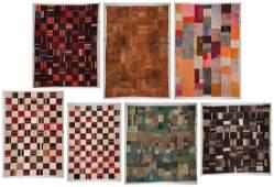 7 Modernist Turkish Kilim Patchwork Rugs