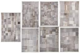 7 Modernist Turkish Kilim Roomsize Patchwork Rugs