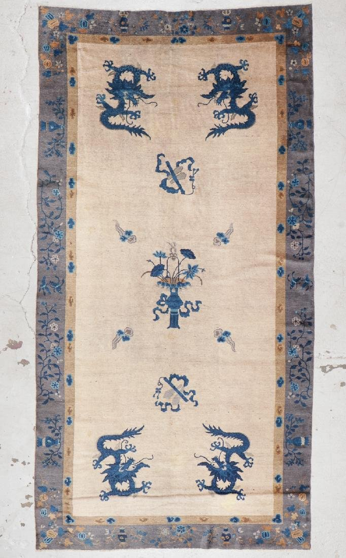 Antique Chinese Dragon Rug: 5'9'' x 11'5'' (175 x 348