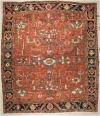 Antique Heriz Rug: 10'2'' x 11'11'' (310 x 363 cm)
