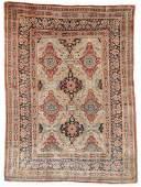 Antique Silk Heriz Rug: 4'5'' x 6'0''