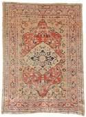 Antique Silk Heriz Rug: 4'4'' x 6'0''