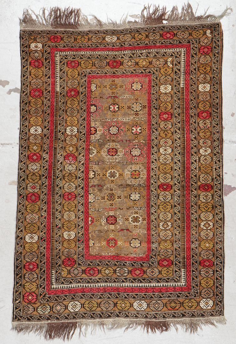 Antique Kuba Rug: 3'9'' x 5'7'' (114 x 170 cm)