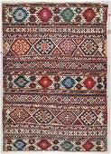 Antique Shirvan Kilim: 5'6'' x 7'9'' (168 x 236 cm)