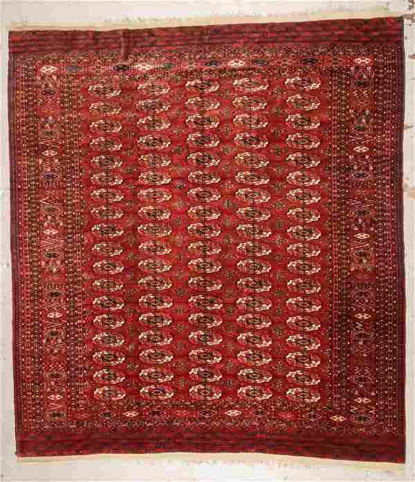 Antique Tekke Main Carpet: 8'5'' x 9'7'' (257 x 292 cm)