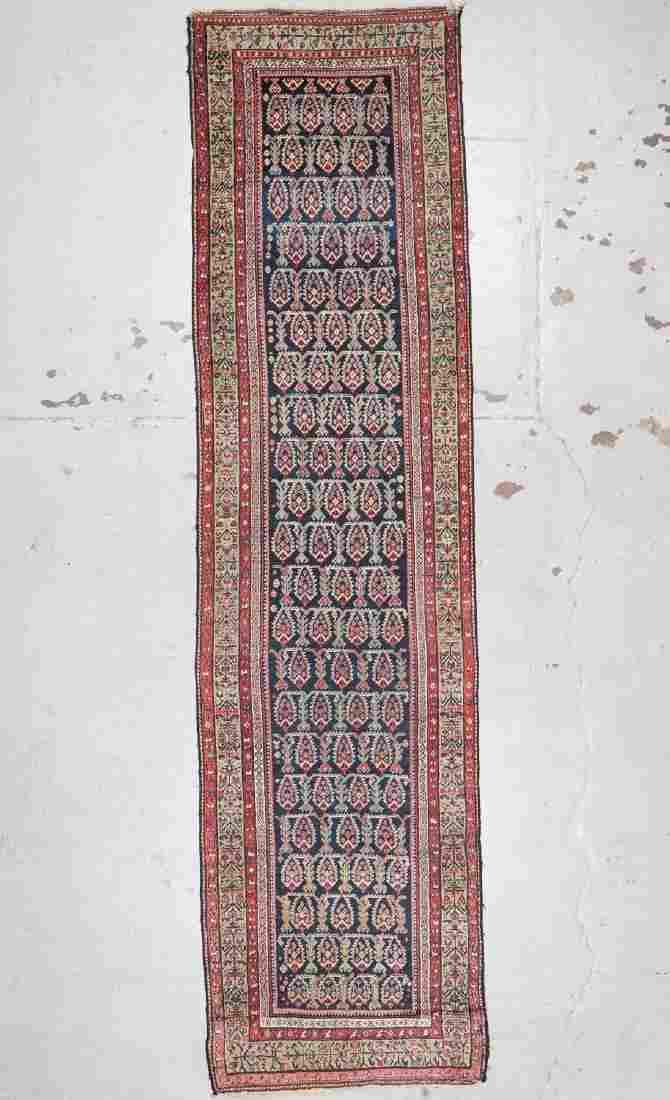 Antique Hamadan Rug: 3'5'' x 13'8'' (104 x 417 cm)