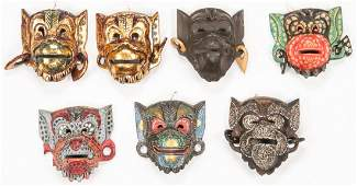 7 Vintage Indonesian Masks