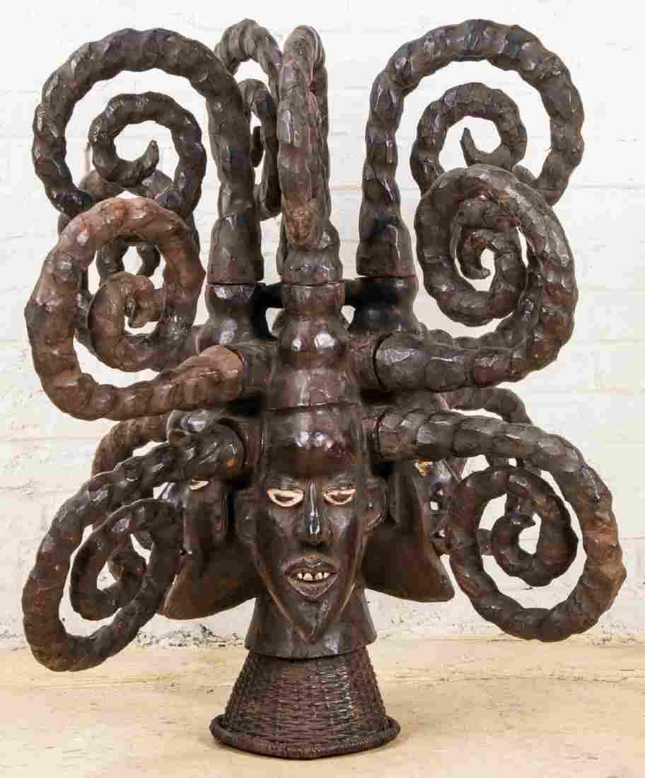 Massive Ekoi Headdress Mask