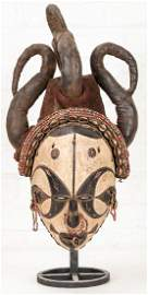 African Mask, Carved and Painted Wood