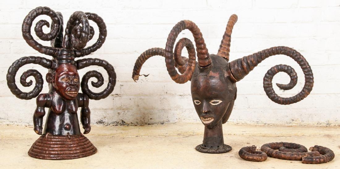 2 Ekoi Headdress Masks