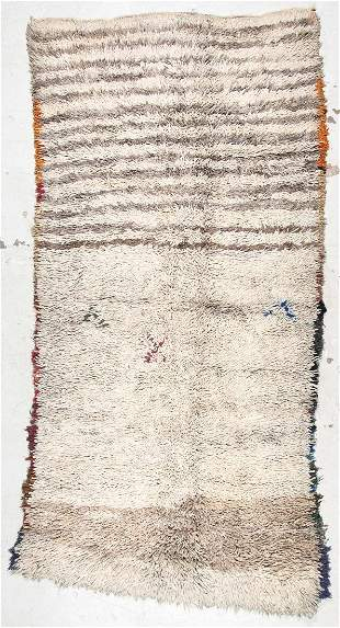 Moroccan Rug: 5'3'' x 10' (160 x 305 cm)