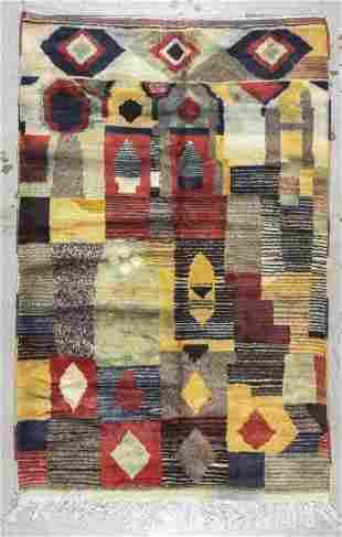 Moroccan Rug: 5'1'' x 7'10'' (155 x 239 cm)