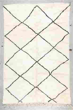 Beni Ourain Rug: 6'9'' x 10'2'' (206 x 310 cm)