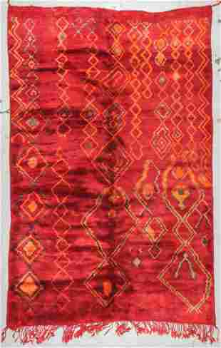 Moroccan Rug: 6'10'' x 10'7'' (208 x 323 cm)
