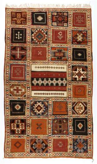 Vintage Moroccan Mixed Weave Rug: 5'2'' x 9' (157 x 274