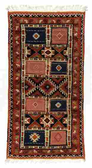 Vintage Moroccan Mixed Weave Rug: 3'7'' x 6'11'' (109 x