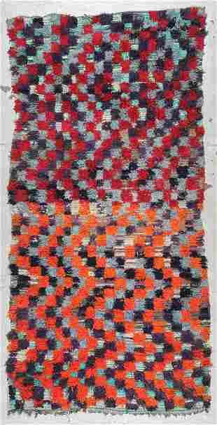 Moroccan Rug: 4' x 8'2'' (122 x 249 cm)