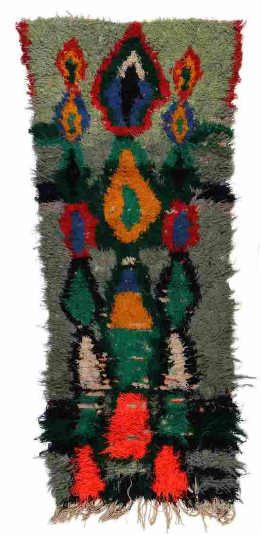 Vintage Moroccan Rug: 2'7'' x 5'11'' (79 x 180 cm)