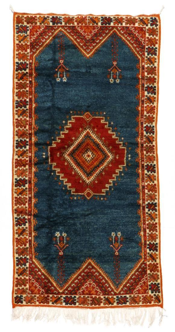 Vintage Moroccan Rug: 3'5'' x 6'8'' (104 x 203 cm)