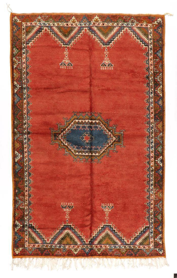 Vintage Moroccan Rug: 5' x 8'1'' (152 x 246 cm)