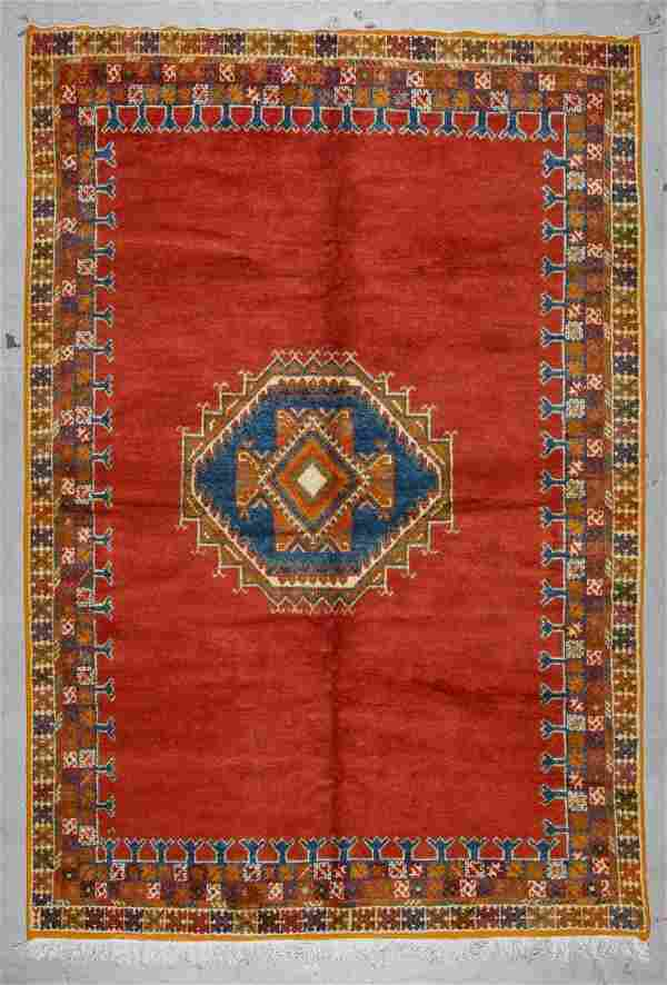 Vintage Moroccan Rug: 6'6'' x 9'7'' (198 x 292 cm)