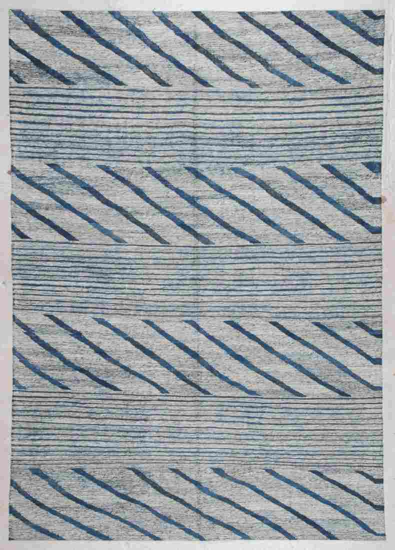 Modern Striped Kilim: 6'1'' x 8'8'' (185 x 264 cm)