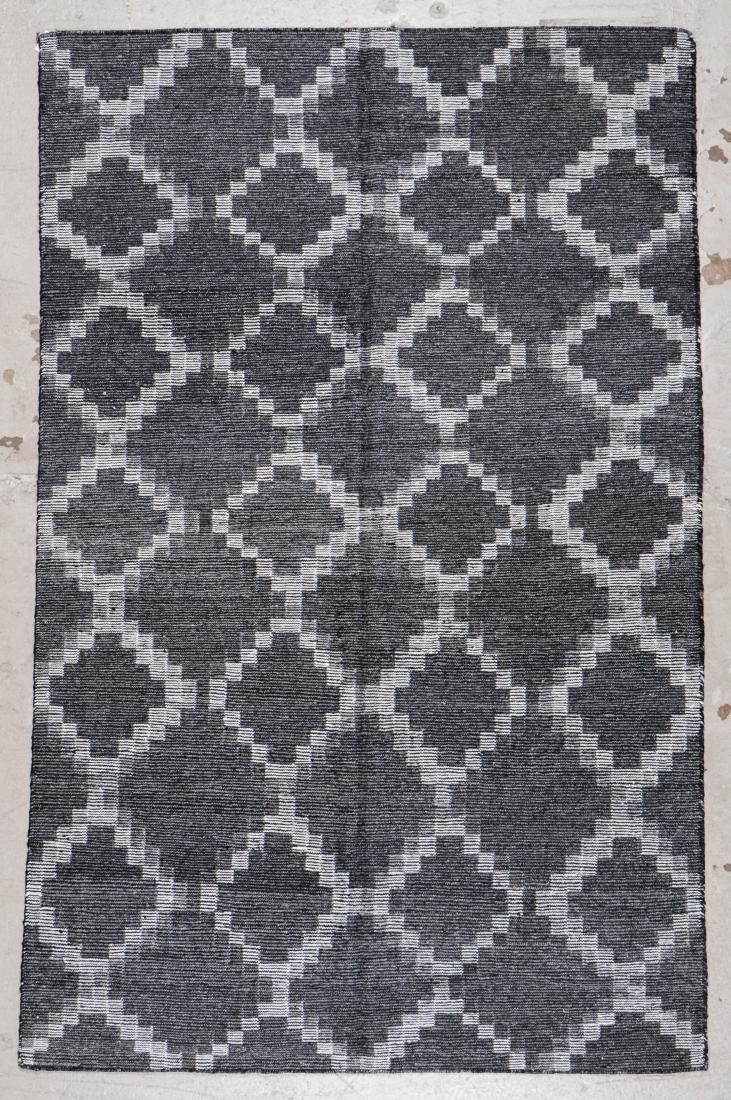Modern Bamboo Silk/Wool Kilim: 5'2'' x 8' (157 x 244