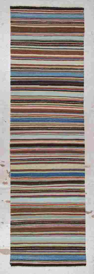 Modern Striped Kilim: 2'10'' x 9'11'' (86 x 302 cm)