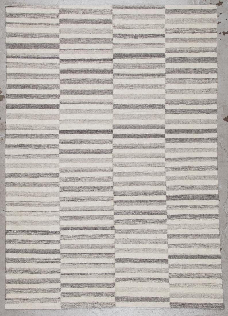 Modern Striped Kilim: 5'3'' x 7'6'' (160 x 229 cm)