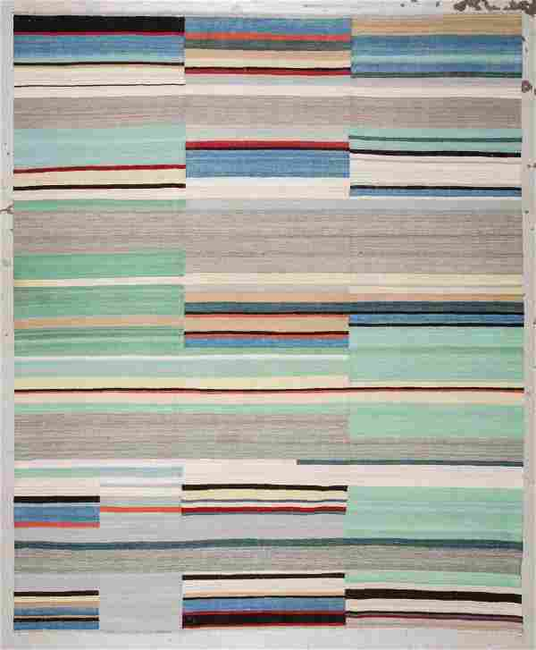 Modern Striped Kilim: 8'3'' x 10' (251 x 305 cm)