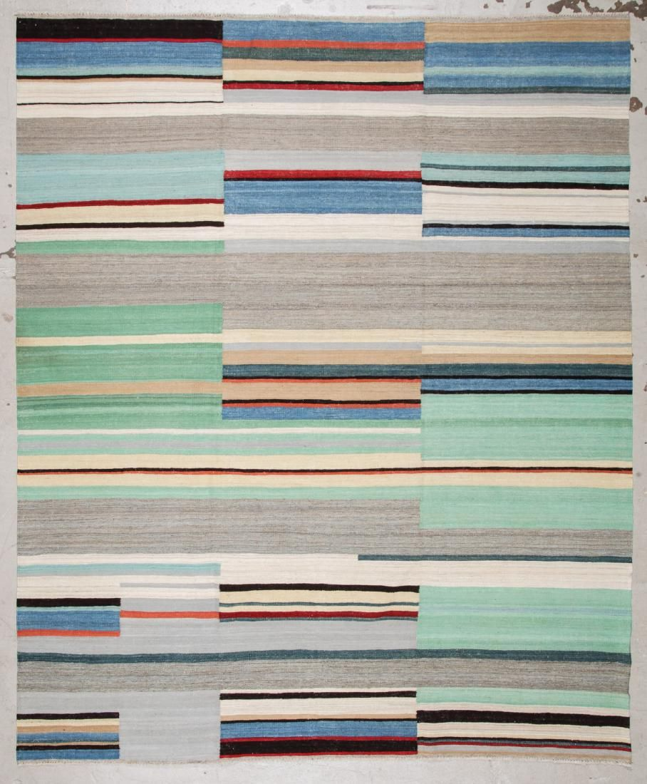 Modern Striped Kilim: 8'3'' x 10' (251 x 305 cm)