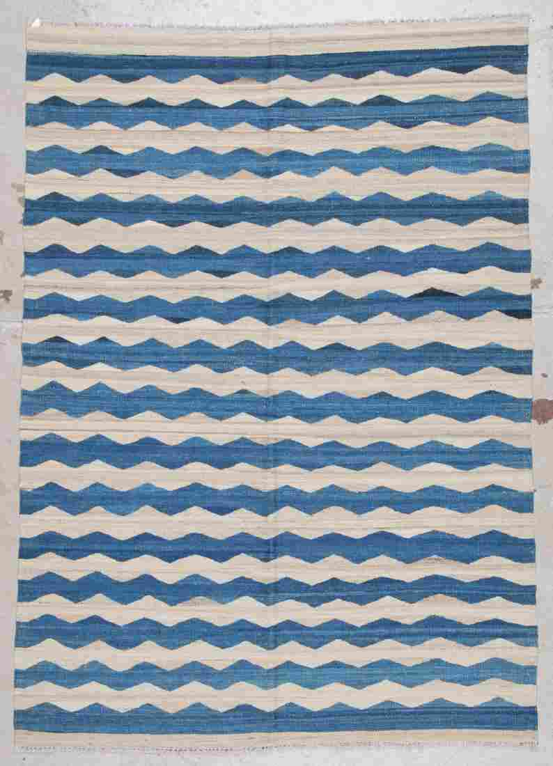 Modern Striped Kilim: 4'7'' x 6'6'' (140 x 198 cm)