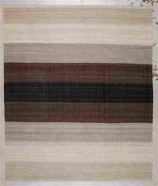 Modern Striped Kilim: 8'7'' x 10'2'' (262 x 310 cm)