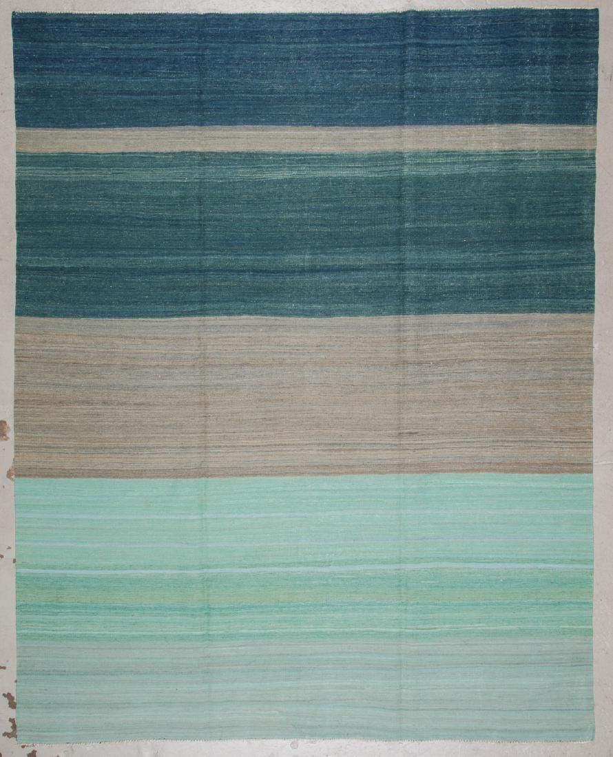 Modern Striped Kilim: 8'1'' x 10'3'' (246 x 312 cm)
