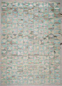 Modern Mid Century Style Kilim: 9'10'' x 13'11'' (300 x