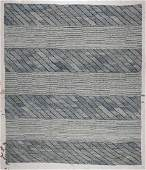 Modern Striped Kilim: 7'8'' x 8'8'' (234 x 264 cm)