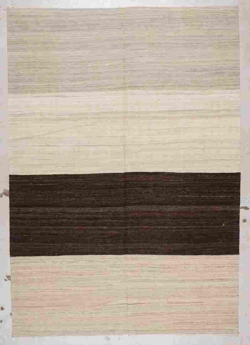 Modern Striped Kilim: 6'9'' x 9'7'' (206 x 292 cm)