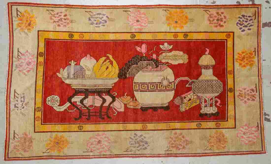 Antique Khotan Rug: 5'4'' x 8'11'' (163 x 272 cm)