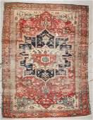 Antique Serapi Rug: 8'11'' x 11'9'' (272 x 358 cm)