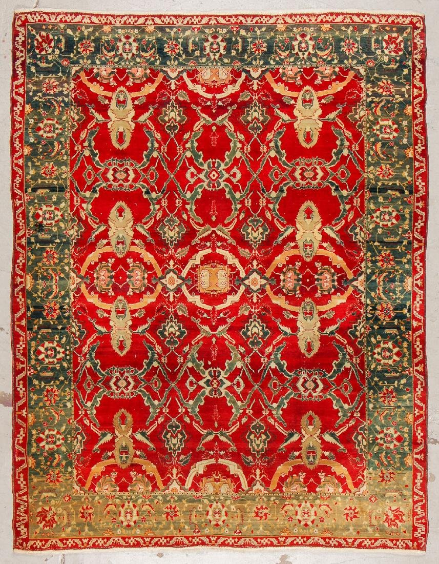 "Fine Antique Agra Rug: 6'2"" x 7'9"" (188 x 236 cm)"